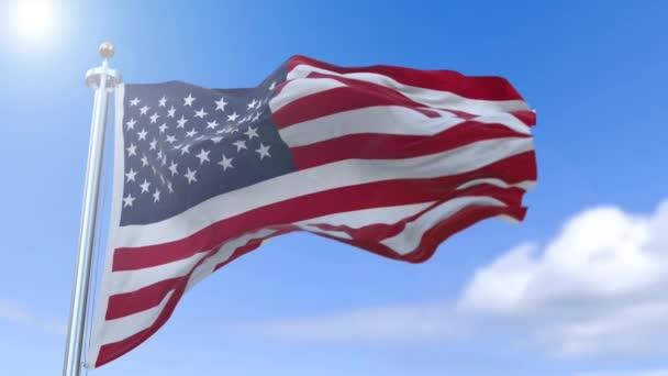 Ondeggiamento di rallentatore bandiera americana