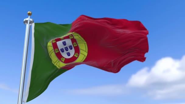 Portugál zászló a lassú mozgás.
