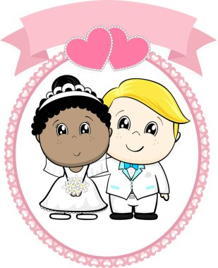 inter racial couple bride and groom