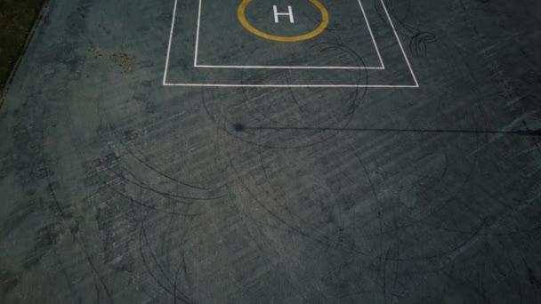 Odletu a přistání z Helipad - letecký snímek