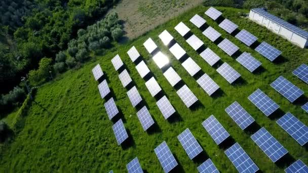Solární panely zemědělské oblasti zelené energie z obnovitelných zdrojů