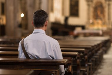 Man sitting at Church