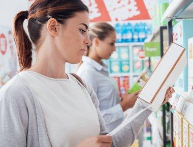 Women shopping at supermarket