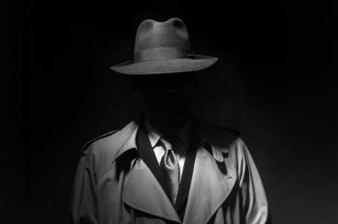 Man posing in dark