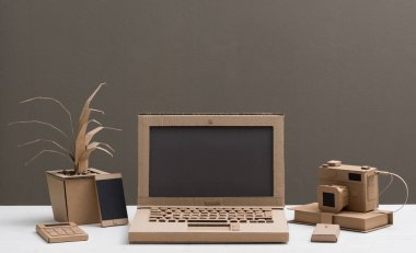 laptop made from recycled cardboard
