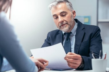 woman having job interview with manager