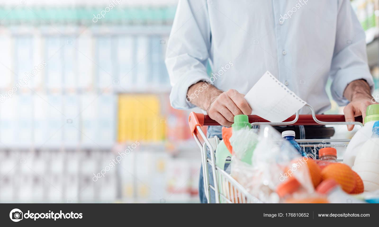 supermarket shopping list