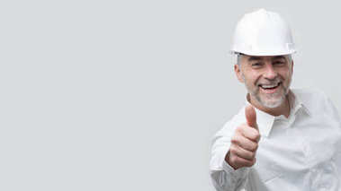 architect giving thumb up