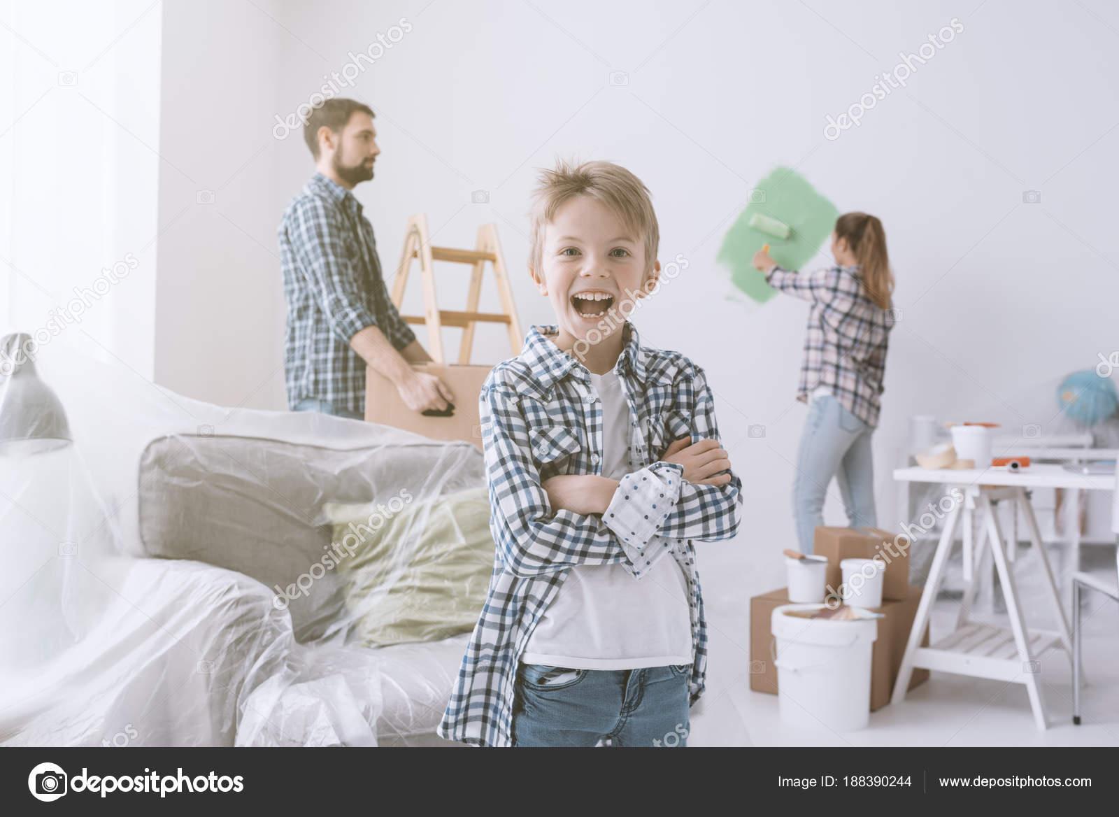 Schilderij familie kamer u stockfoto stokkete