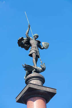 St. George the Victorious statue in Trubnaya Square 12.08.2017