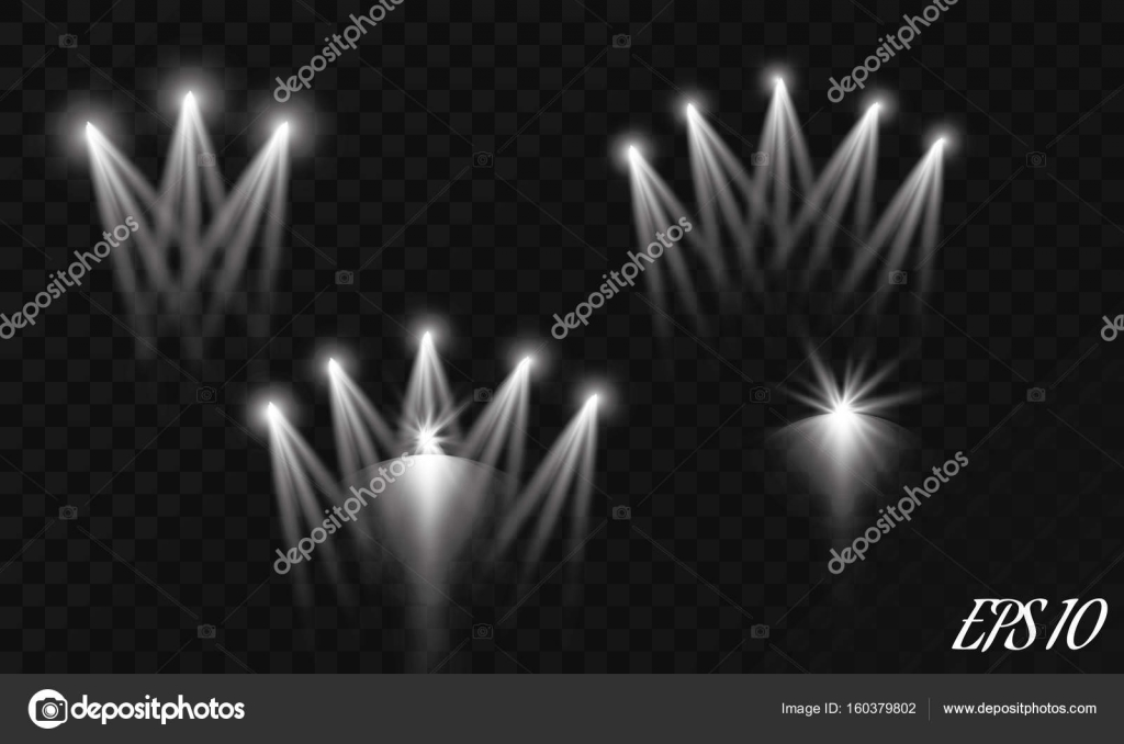Bright special lighting Nespresso Set Of Realistic Vector Bright Projectors For Scene Lighting Isolated On Plaid Background Special Light Colourbox Set Of Realistic Vector Bright Projectors For Scene Lighting