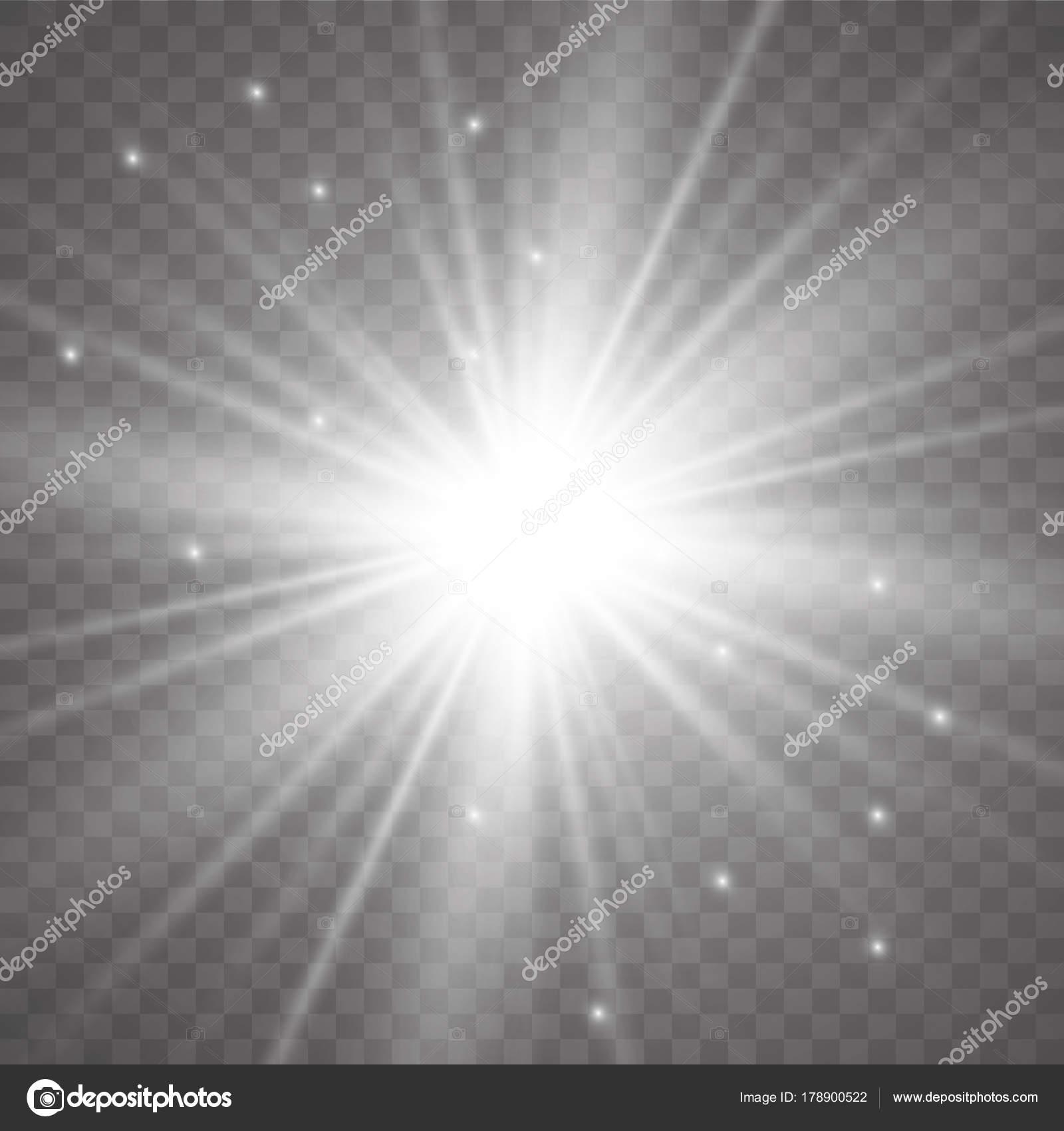 Illustrazione Vettoriale Astratto Bagliori Dei Raggi Luce