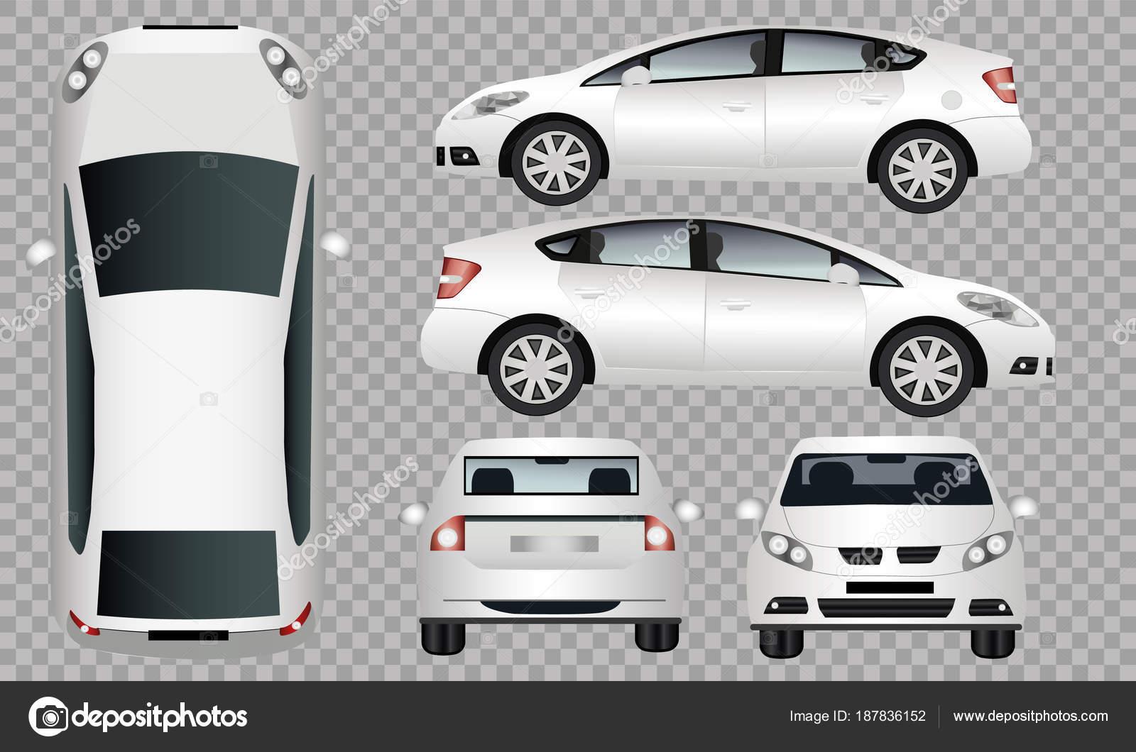 Marca Carro Branco Marca Layout Bmv Carro Lado Frente
