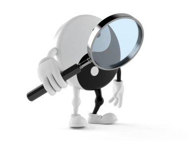 Jing Jang character holding magnifying glass