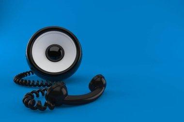 Audio speaker with telephone handset