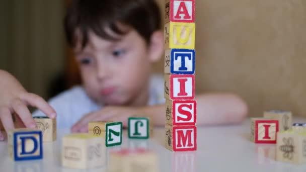 Gyermekkéz autizmus szó blokkok, spektrumzavar, rehabilitációs központ