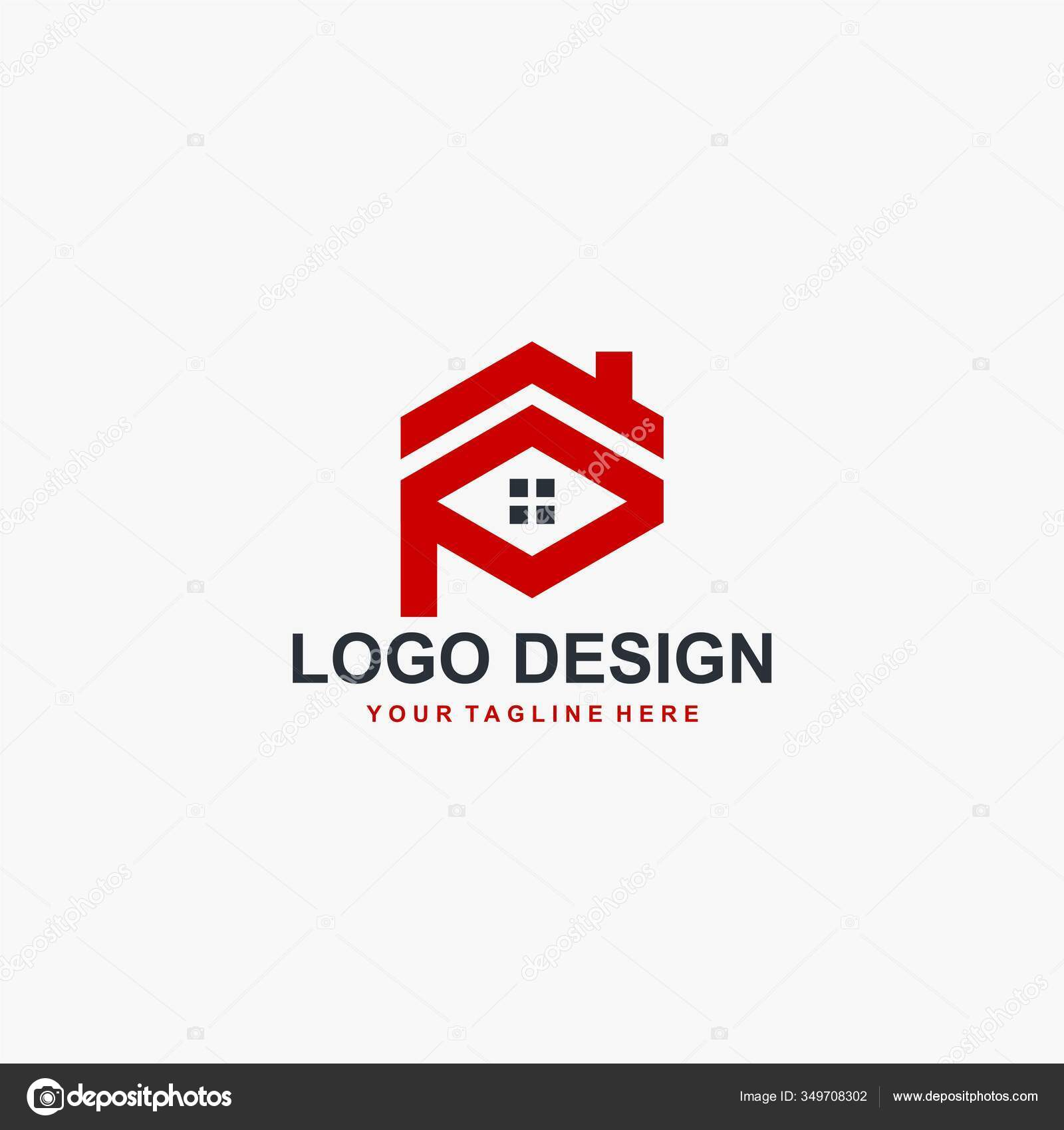 Monogram Real Estate Logo Design Vector House Letter Sign Logo Stock Vector C Dynecreative 349708302