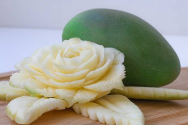 Carved Green Mangoes.