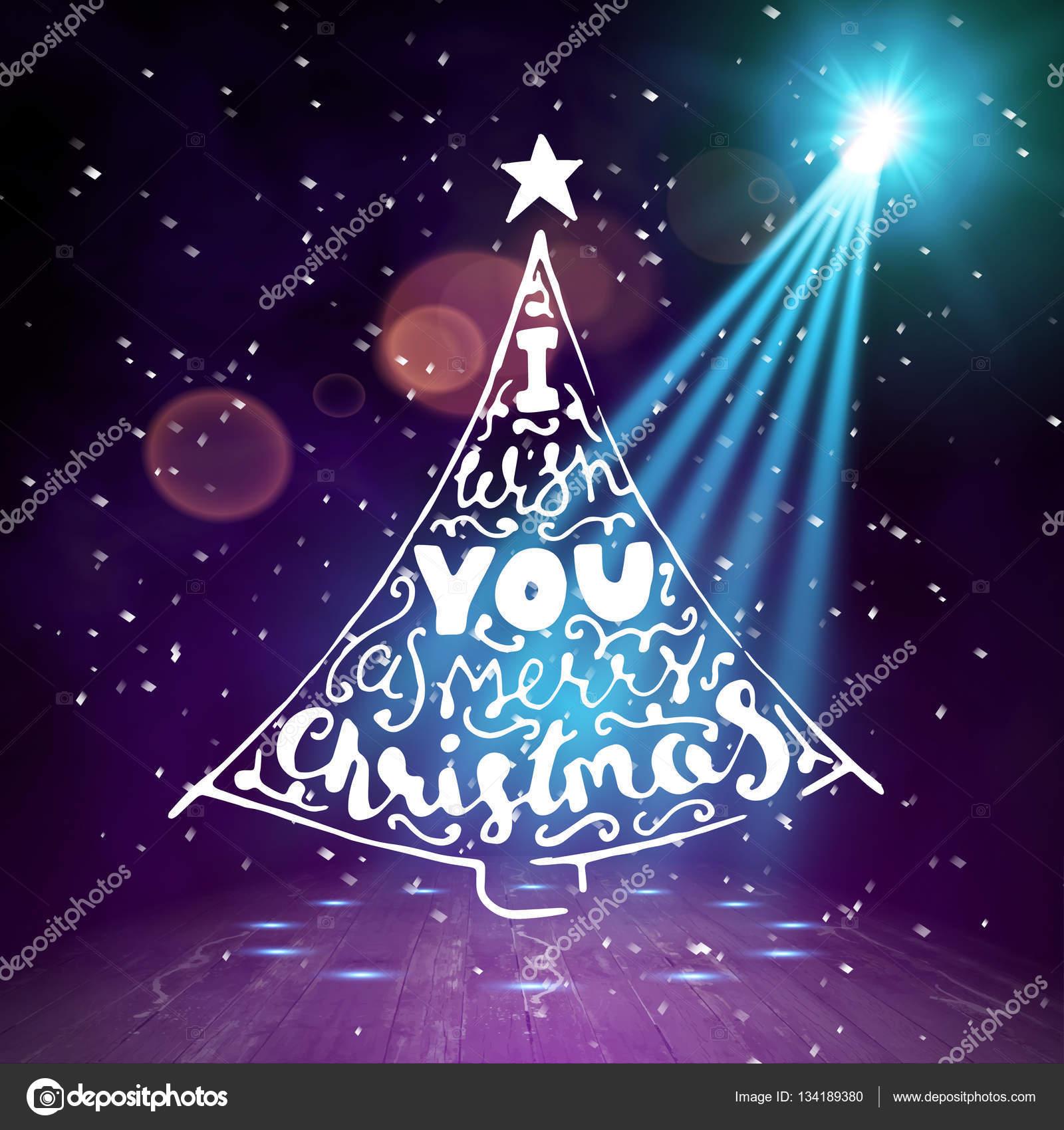 Hintergrund anzeigen. Frohe Weihnachten Pinsel Script Stil Hand ...