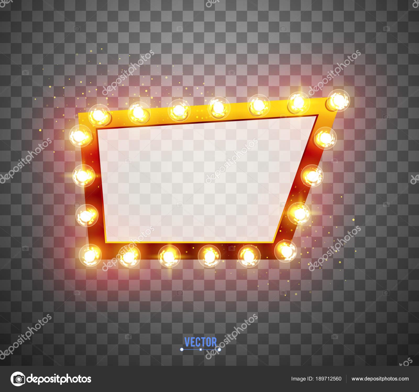 imágenes efectos especiales de brillantes luces retro de diseño