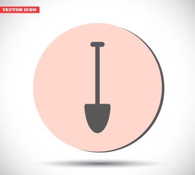 Shovel vector icon , lorem ipsum Flat design