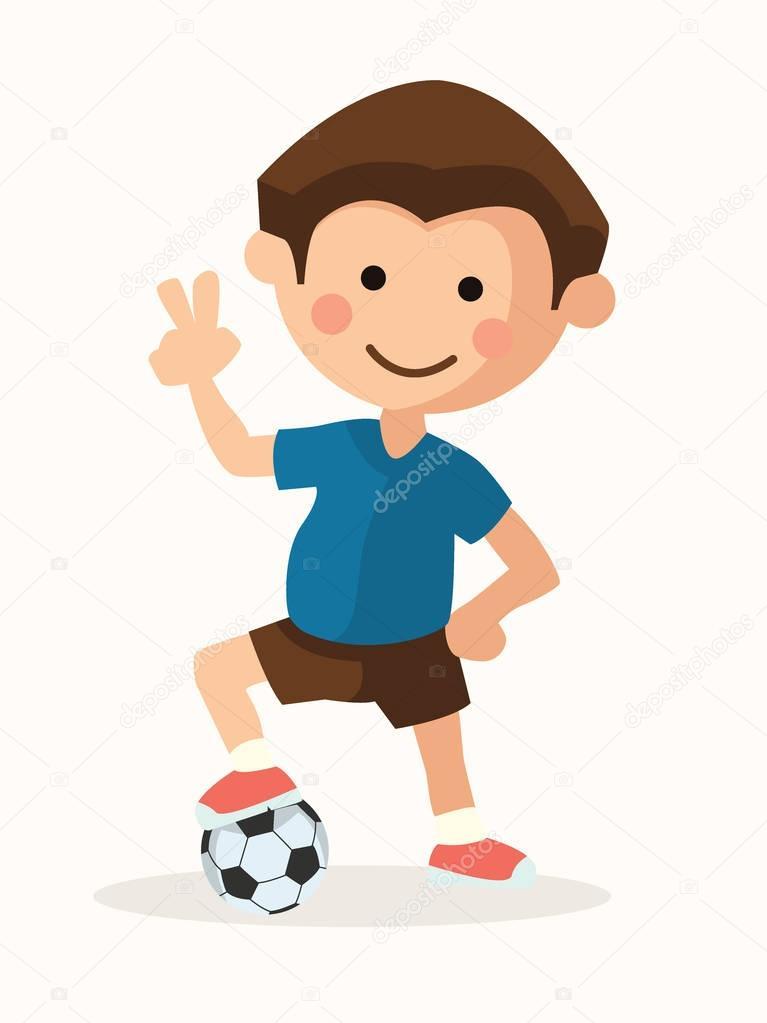 Football Player Kid Stock Vector C Levente 130390348