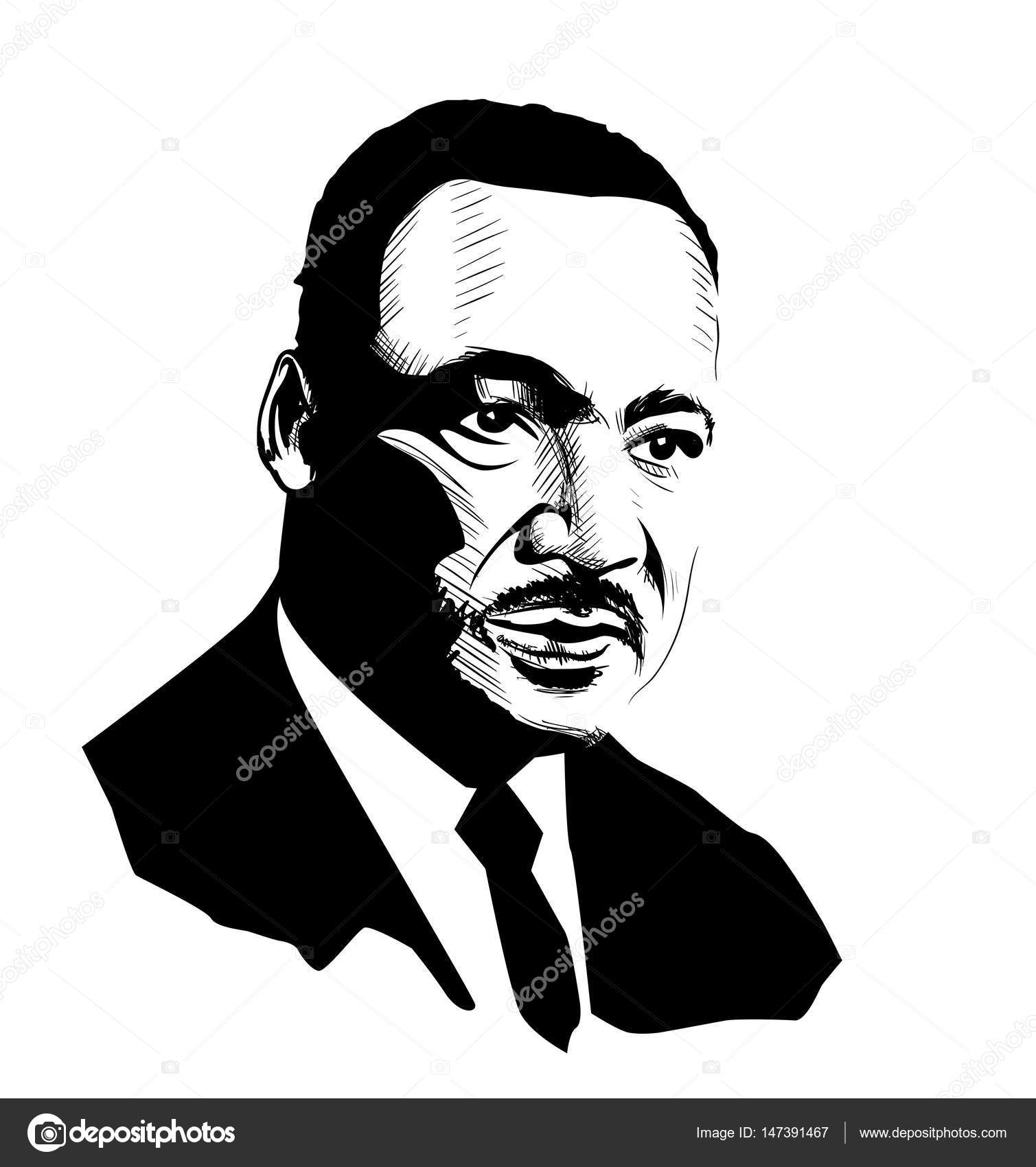 Martin Luther King Portrait Sketch Stock Vector C Levente 147391467
