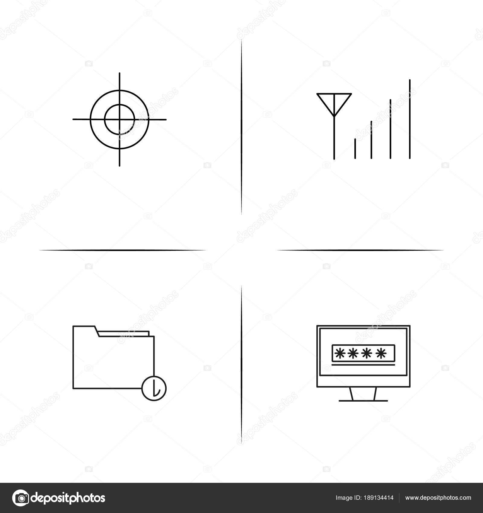 Conjunto de cones linear simples de segurana de internet icons conjunto de cones linear simples de segurana de internet icons vector esboado vetor de ccuart Gallery