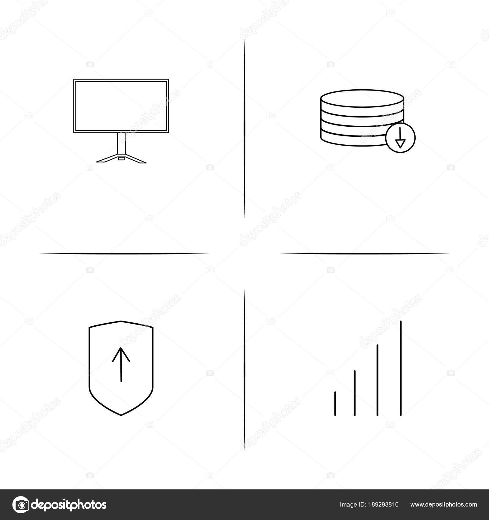 Conjunto de cones linear simples de segurana de internet icons conjunto de cones linear simples de segurana de internet icons vector esboado vetores de ccuart Gallery