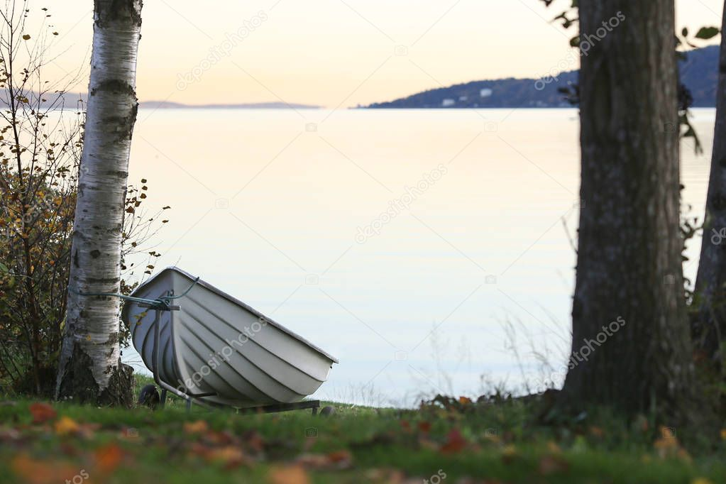 Boat on a Lake Coast
