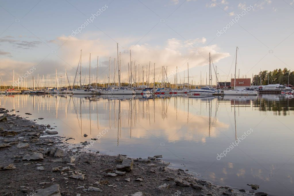 Boats on water