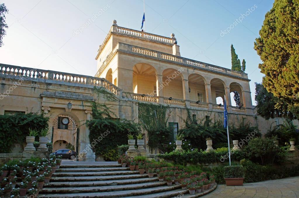 San Anton's Palace (Il-Palazz Sant'Anton) in Attard, Malta