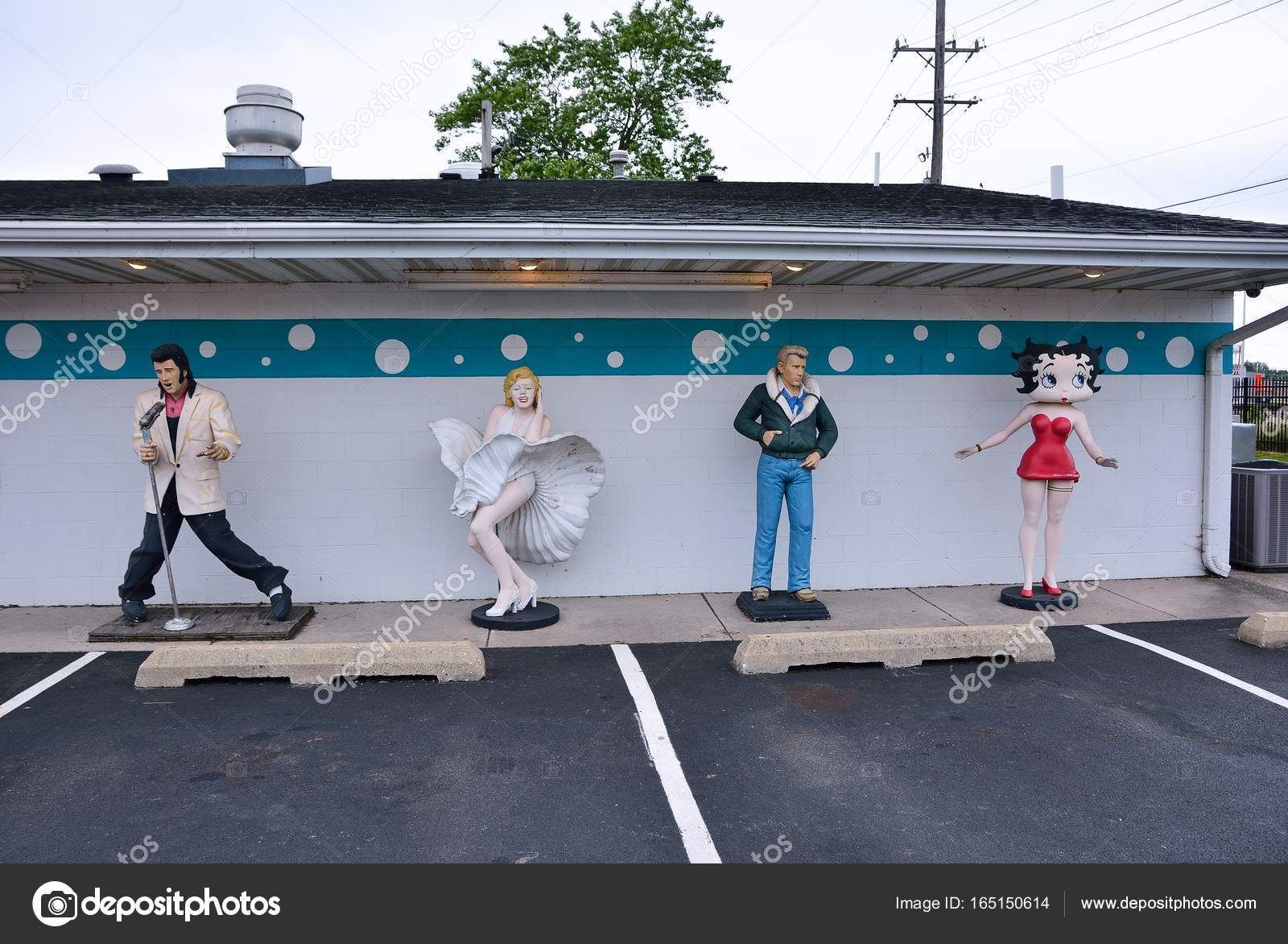 Beelden Van Elvis Presley Marilyn Monroe James Dean En Betty Boop