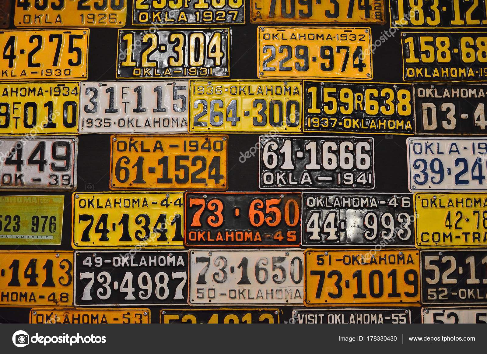 Various old American license plates. – Stock Editorial Photo ...