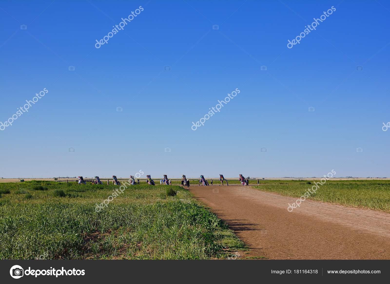 Cadillac Ranch in Amarillo, Texas. – Stock Editorial Photo ...