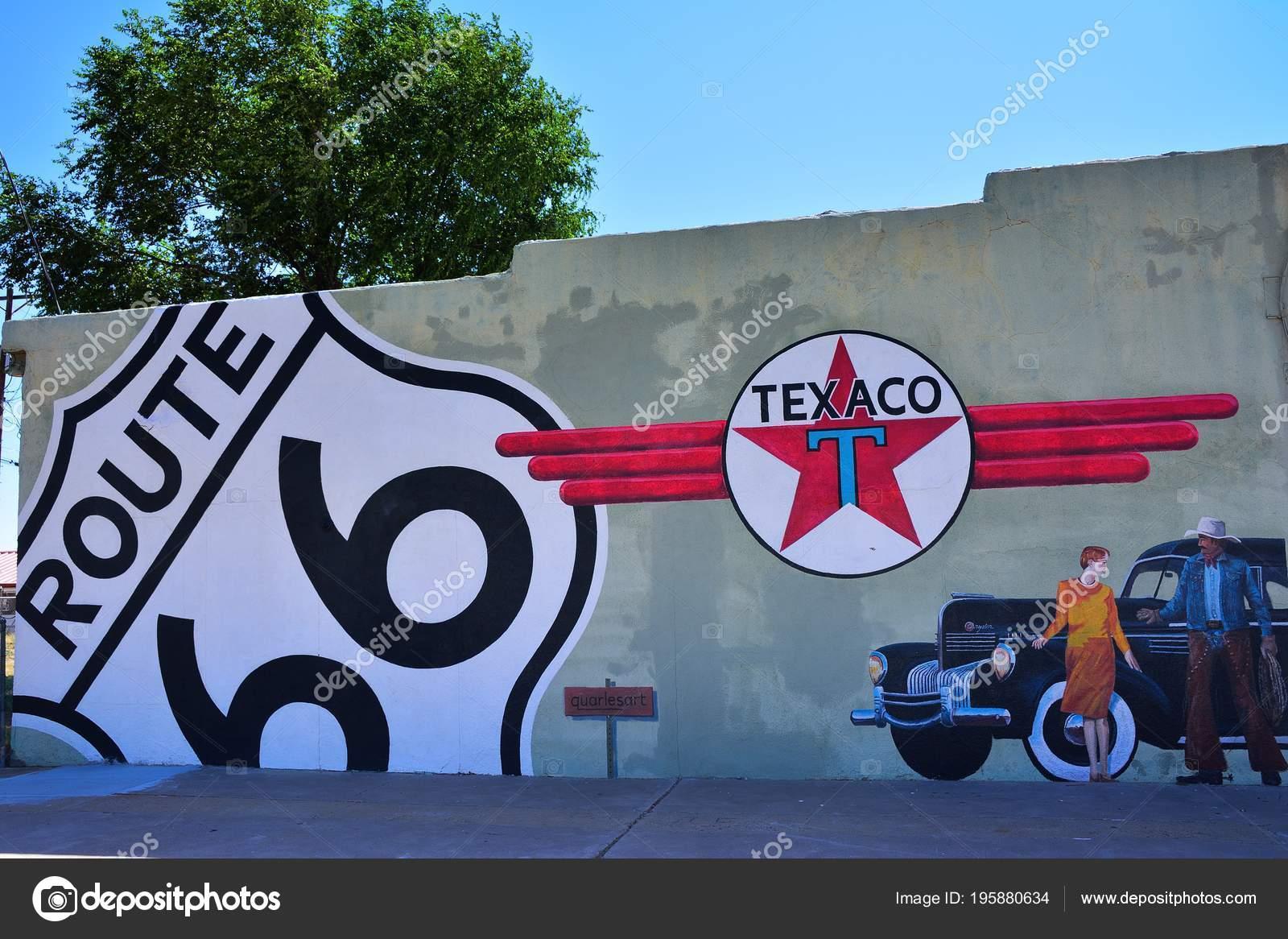 Tucumcari New Mexico July 2017 Texaco Gas Station Tucumcari