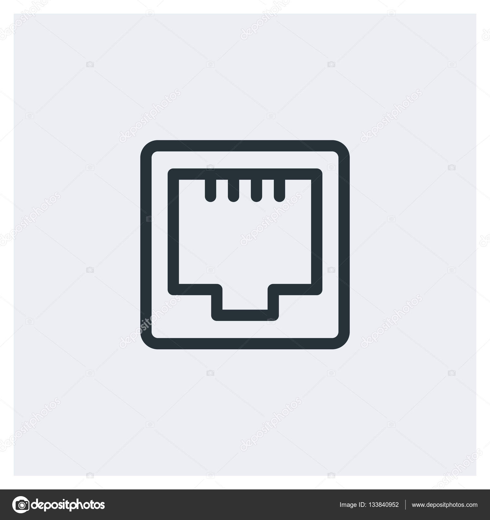 network ethernet port icon � stock vector 169 knyazik 133840952