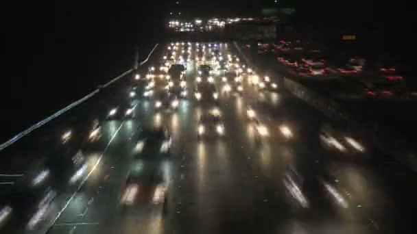 Los Angeles Nighttim Verkehr