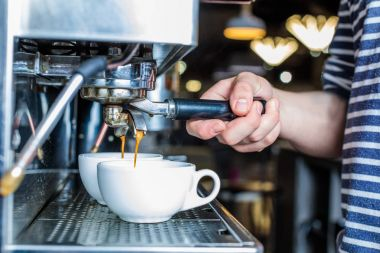 barista preparing fresh coffee