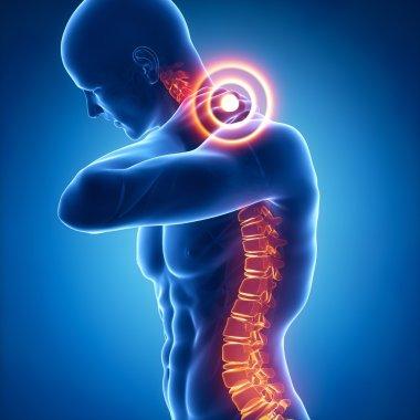 Man has neck pain