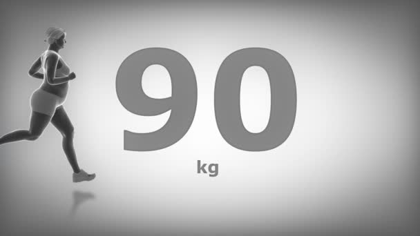 jogging obézní žena zhubnout