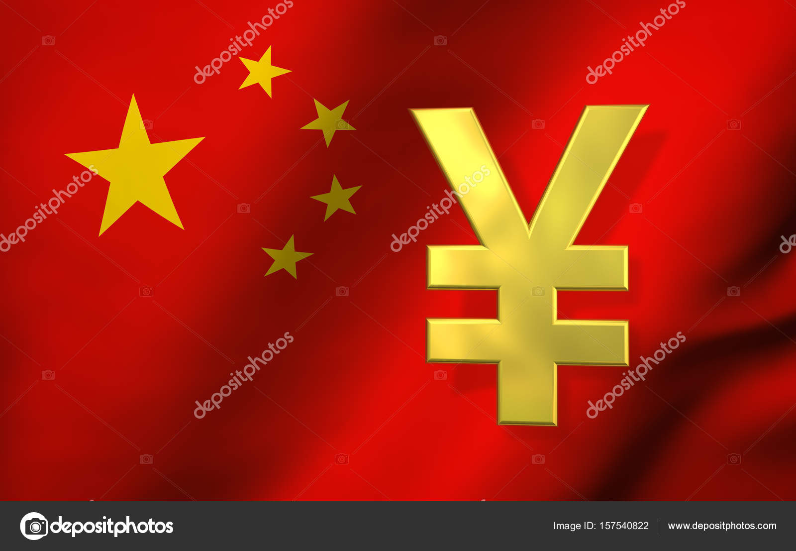 China Flag And Yuan Renminbi Symbol Stock Photo Nirodesign