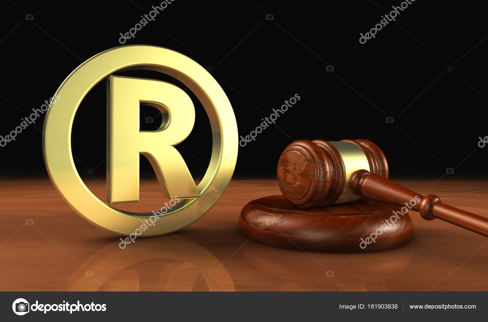 Registered trademark business law stock photo nirodesign registered trademark law business concept with golden trade mark symbol and gavel 3d illustration photo by nirodesign biocorpaavc