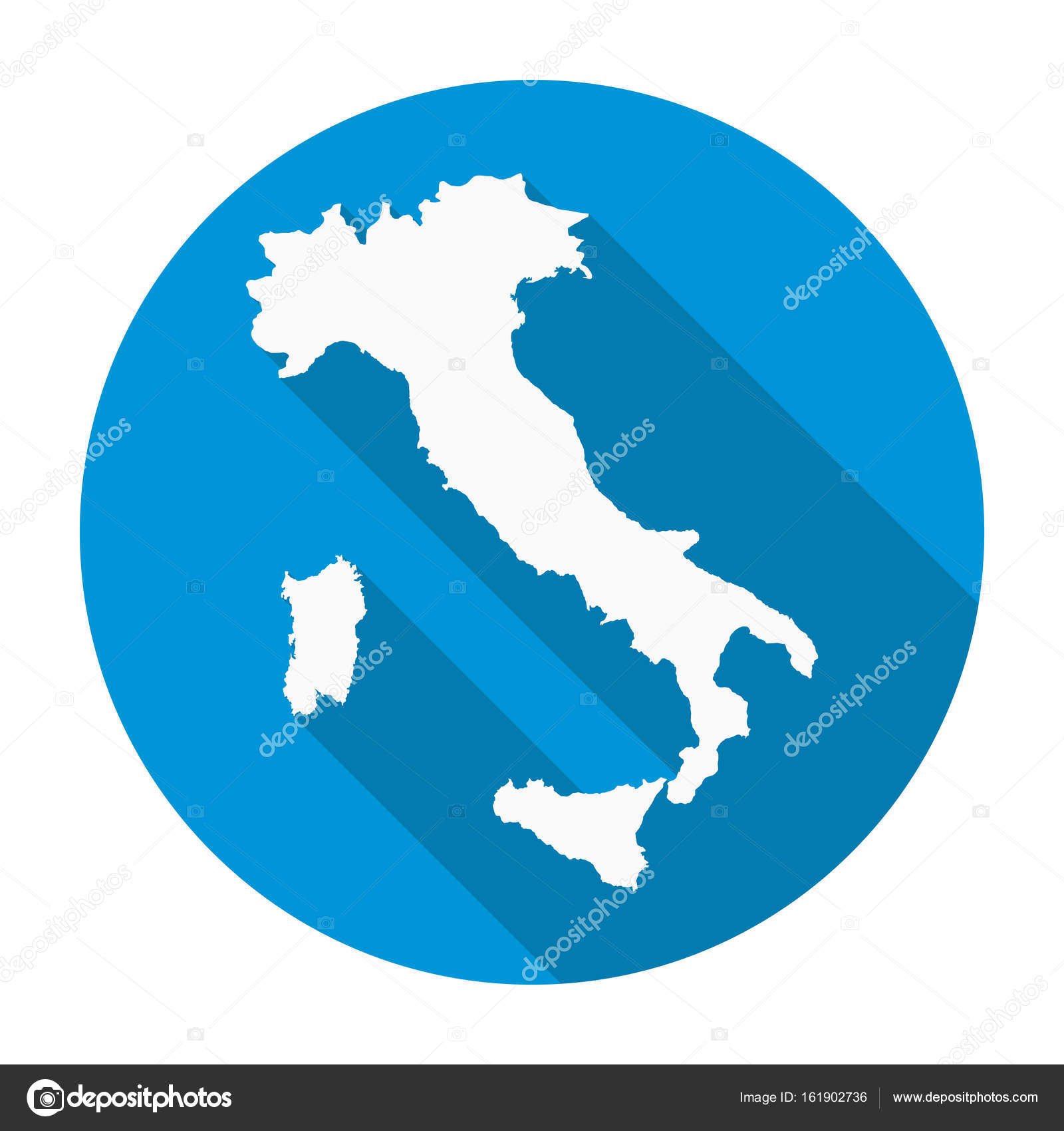Italy map flat icon stock vector nirodesign 161902736 italy map flat icon stock vector gumiabroncs Image collections