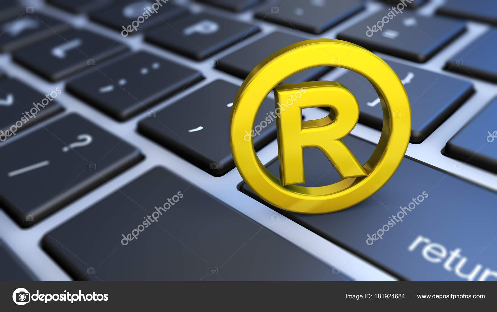 Registered Trademark Symbol Computer Keyboard Stock Photo