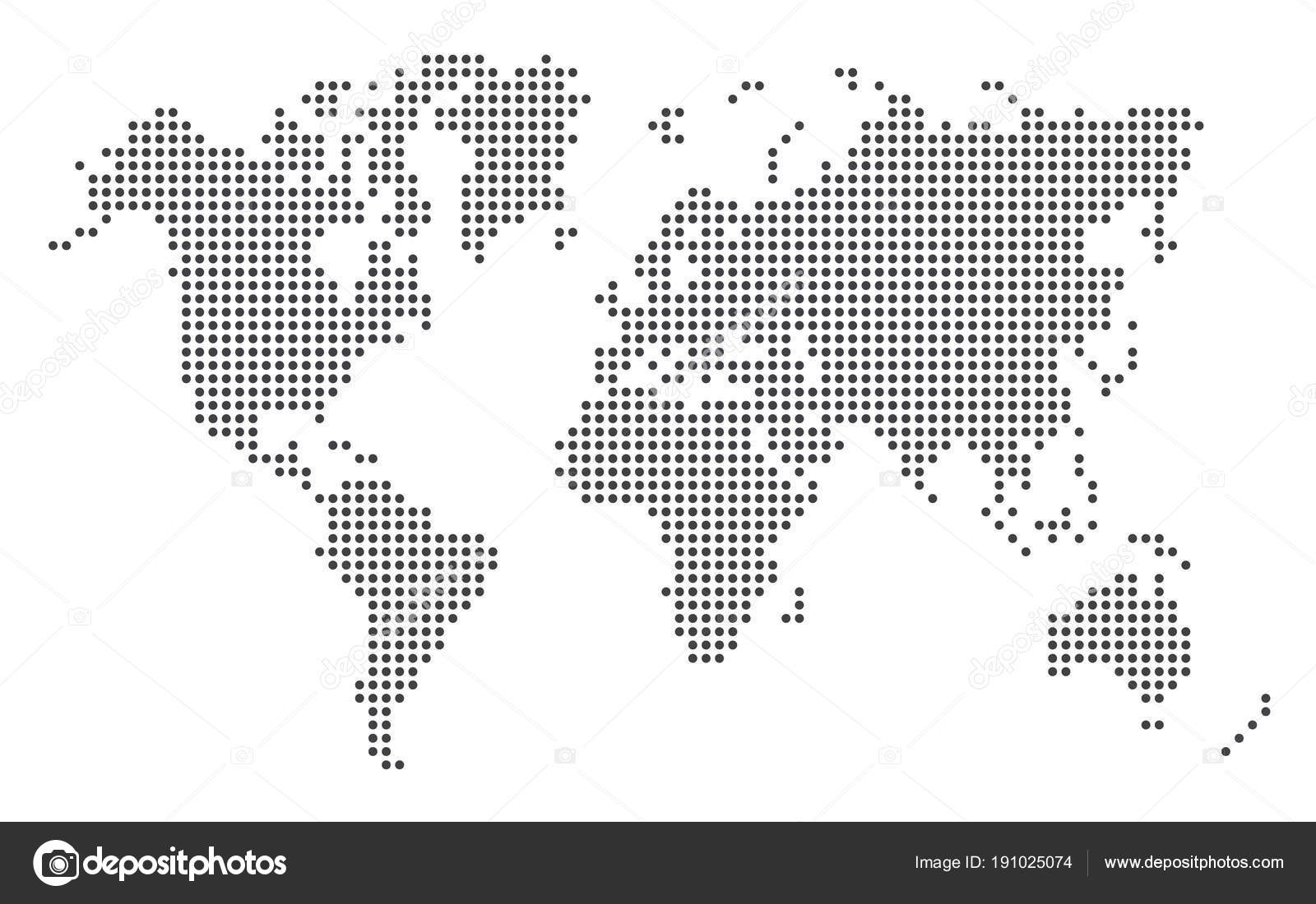 Dotted world map stock vector nirodesign 191025074 dotted world map template eps 10 vector illustration on white background vector by nirodesign gumiabroncs Choice Image