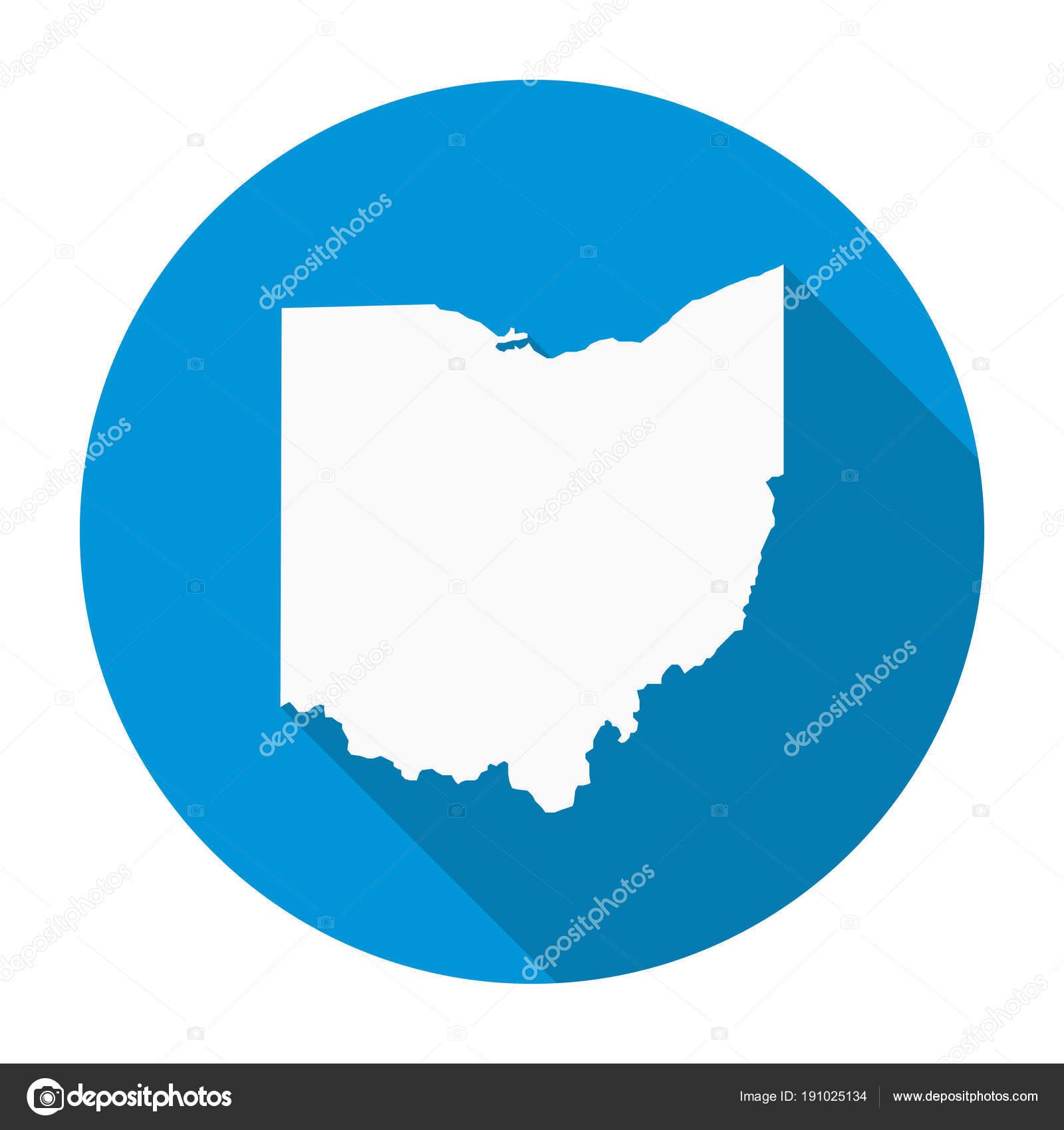 Ohio map flat icon stock vector nirodesign 191025134 ohio map flat icon stock vector gumiabroncs Images
