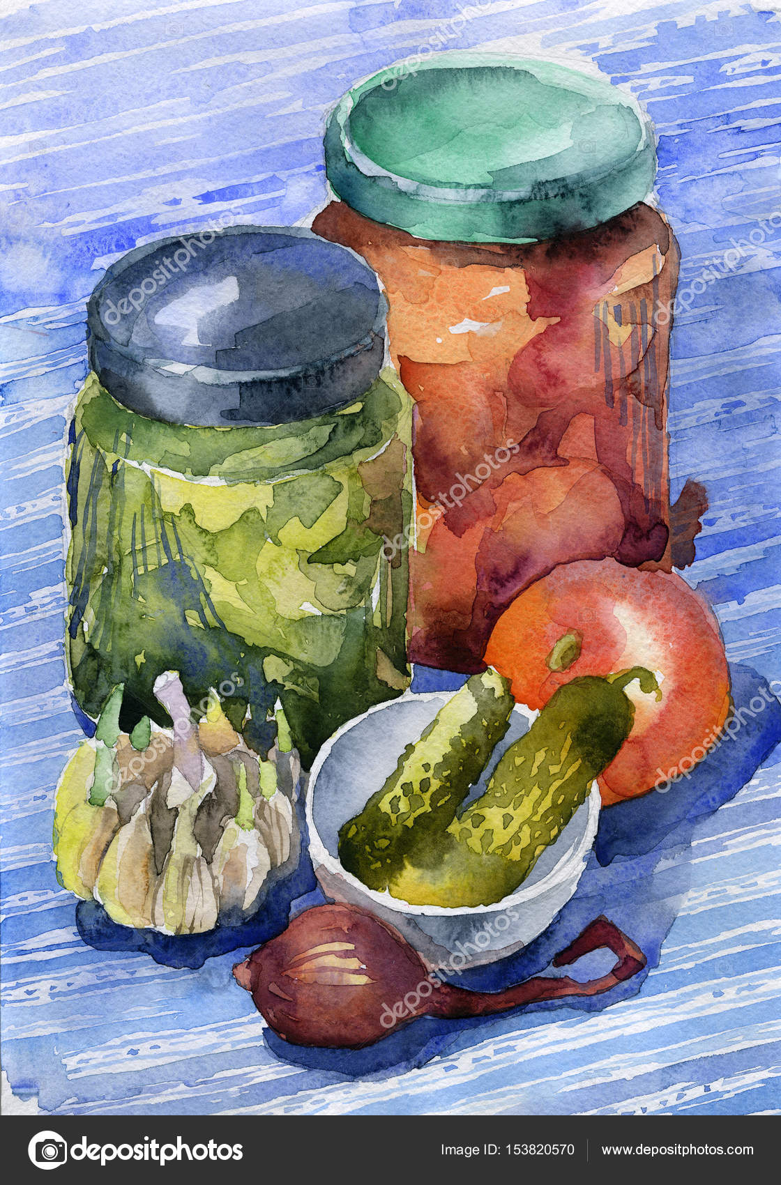 Vegetable Canned Food Vegetables In Glass Jars Tomatoes