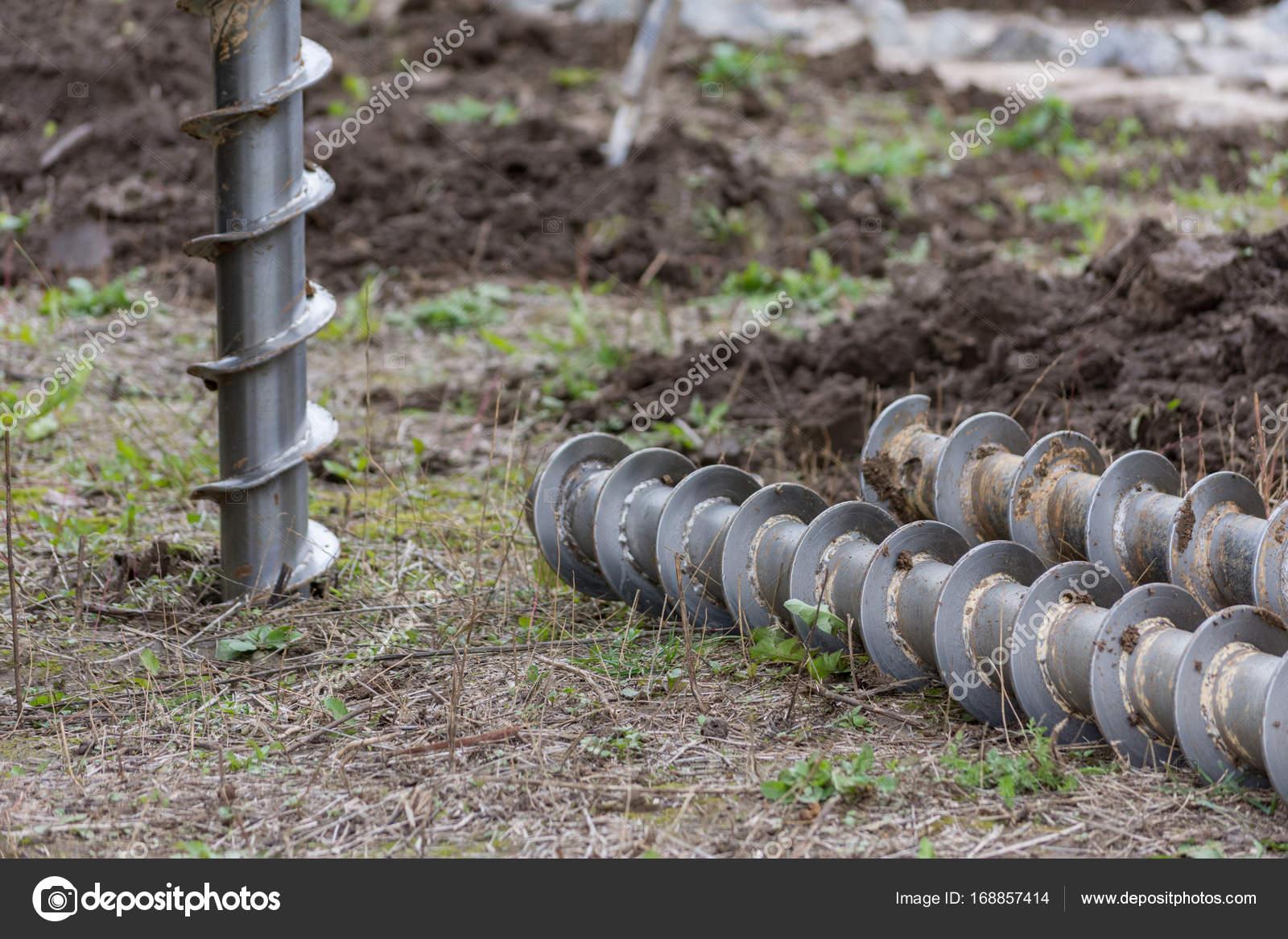 Masywnie budowlane maszyny do wiercenia otworów w ziemi — Zdjęcie stockowe WN12