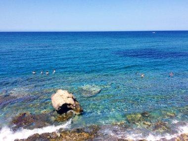 Sea, sky and shore in Crete, Greece